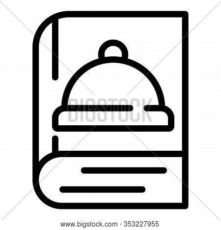 Cookbook Icon. Outline Cookbook Vector Icon For Web Design Isolated On White Background