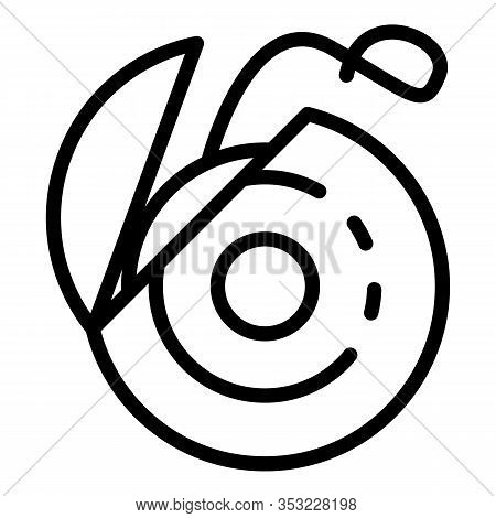 Dental Floss Icon. Outline Dental Floss Vector Icon For Web Design Isolated On White Background