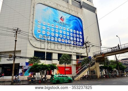 Bangkok, Th-dec. 14: Palladium World Shopping Mall Facade On December 14, 2016 In Ratchaprarop Road,