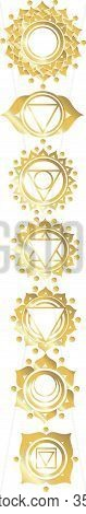 Icons With Chakras  Gold