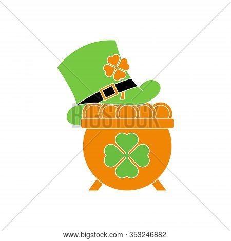 St. Patricks. St. Patricks icon. St. Patricks vector. Pot of Gold icon vector. Pot of Gold logo. St. Patricks symbol. St. Patrick's Day icon. St. Patricks web icon. St. Patrick's Day vector icon trendy flat symbol for website, sign, mobile, app, UI.