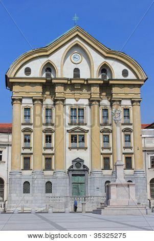 Holy Trinity Church Facade, Ljubljana