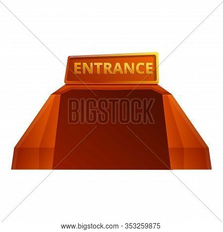 Stadium Entrance Icon. Cartoon Of Stadium Entrance Vector Icon For Web Design Isolated On White Back