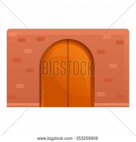 Street Door Entrance Icon. Cartoon Of Street Door Entrance Vector Icon For Web Design Isolated On Wh
