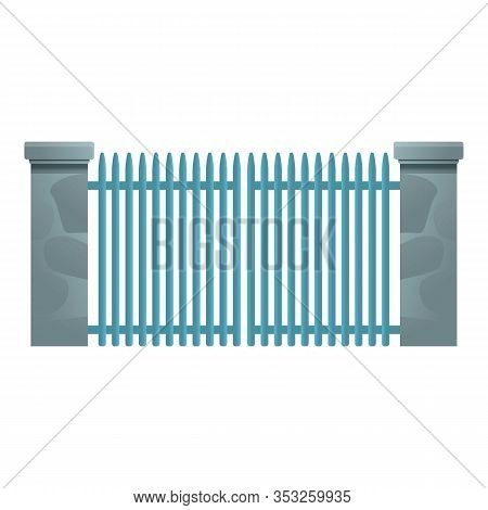 Metal Gate Entrance Icon. Cartoon Of Metal Gate Entrance Vector Icon For Web Design Isolated On Whit