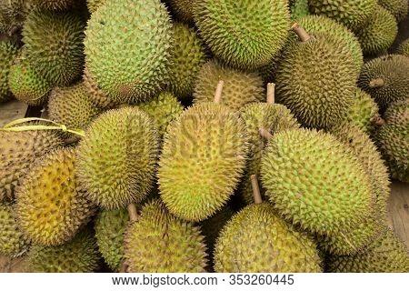 Durian Fruit - Durian Fruit In Large Quantities, Durian Fruit In The Market, Durian Fruit In A Baske