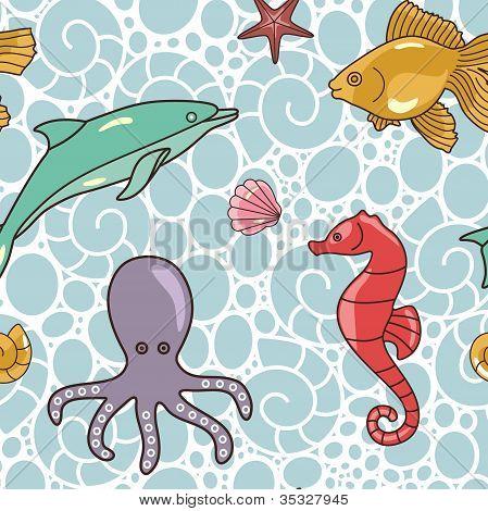 Colorful-ocean-pattern