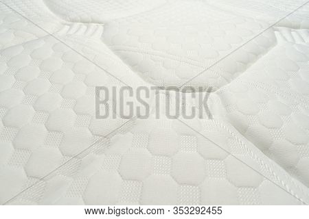 Mattress. Clean White Fabric After Removing Mould Stains.