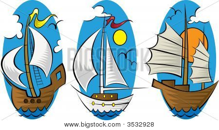 Ships On The Open Ocean