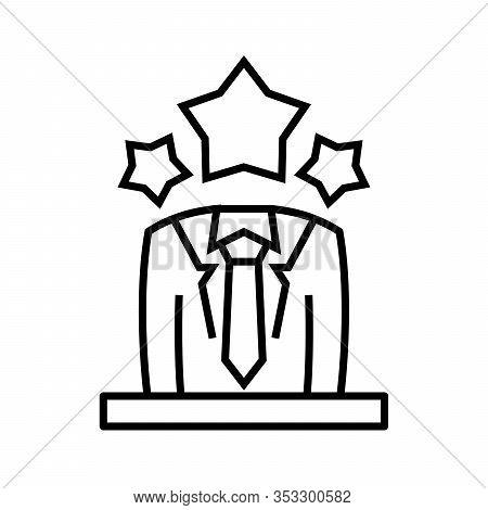 Master Head Line Icon, Concept Sign, Outline Vector Illustration, Linear Symbol.