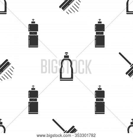 Set Squeegee, Scraper, Wiper, Plastic Bottles For Liquid Dishwashing Liquid And Plastic Bottles For