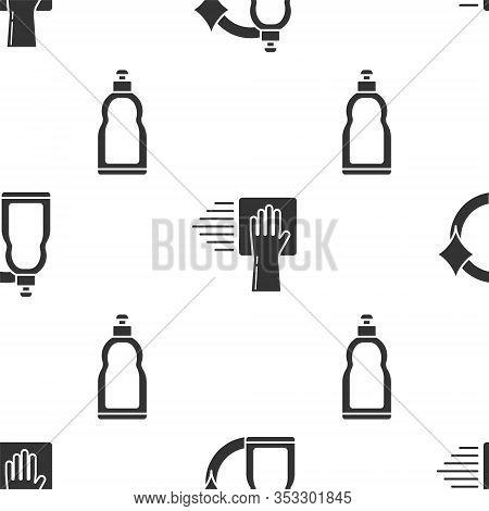 Set Plastic Bottles For Liquid Dishwashing Liquid, Cleaning Service And Plastic Bottles For Liquid D