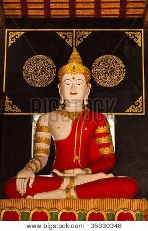 Phra Maha Jakkraphat Statue In Wat Chedi Lung