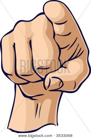 Pointing At Hand Gesture