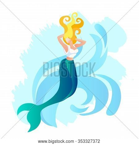 Seamaid, Mermaid Or Water Nymph, Beautiful Woman With Fish Tail In Greece Mythology, Personify Siren