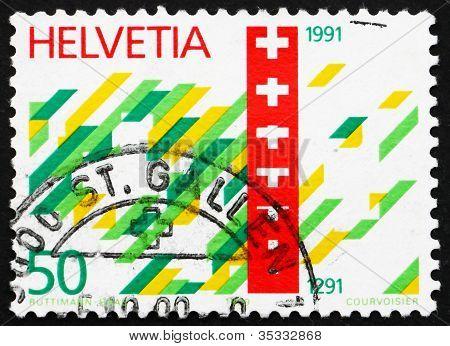 Postage stamp Switzerland 1990 Swiss Confederation