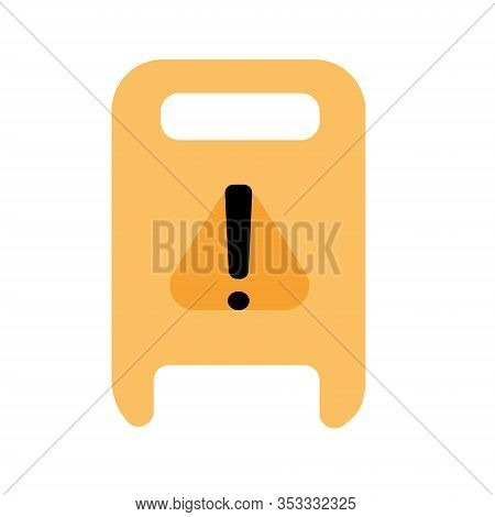 Wet Floor Warning Sign. Modern Flat Design For Web Banners, Web Sites, Printed Materials, Infographi