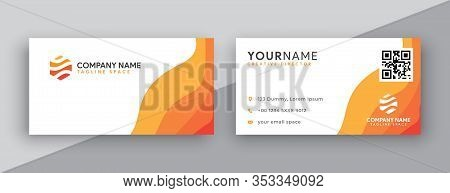 Business Card, Orange Business Card Designs. Business Card Template. Modern Business Card