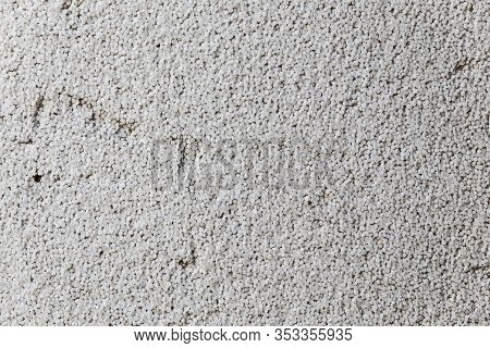 Styrofoam In A Cut - Texture Or Background. Close-up Of White Grey Styrofoam With Pattern Background