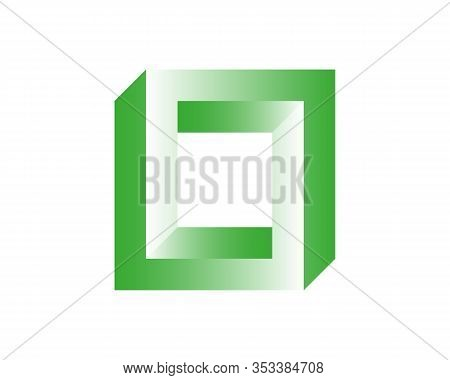 Abstract Colour 3d Spiral Shape. Vector Dimensional Object. Geometrical Polygonal Dimensional Object