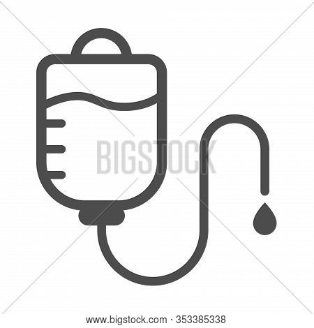 Medical Drop Counter Vector Icon Isolated On White Background. Drop Counter Flat Icon For Web, Mobil