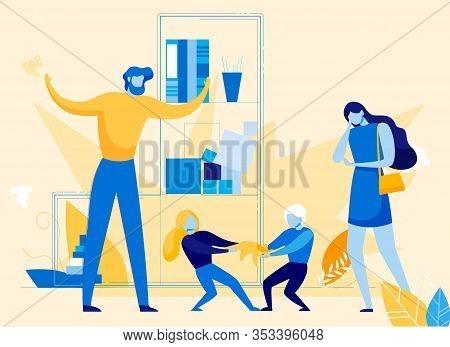 Children Bad Behavior And Hyperactivity, Psychological Mental Problem Or Disorder Symptom. Brother A