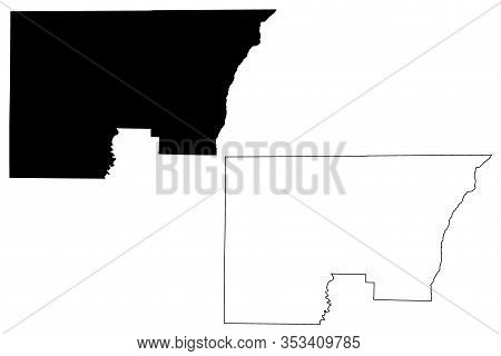 Holmes County, Florida (u.s. County, United States Of America,usa, U.s., Us) Map Vector Illustration