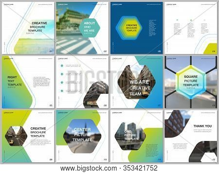 Minimal Brochure Templates With Hexagonal Design Background, Hexagon Style Pattern. Covers Design Te