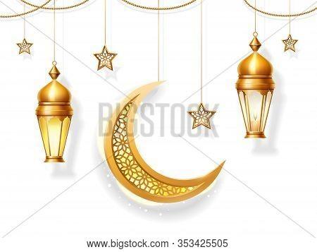 Background Decoration For Iftar Or Eid Al Adha, Eid-al-fitr Or Ramadan Fasting, Eid Qurban Or Bakrid