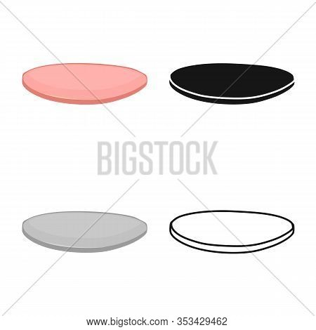 Isolated Object Of Cutlet And Sausage Logo. Web Element Of Cutlet And Slice Stock Symbol For Web.