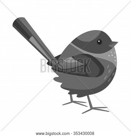 Vector Design Of Bird And Sparrow Icon. Set Of Bird And Brown Stock Vector Illustration.