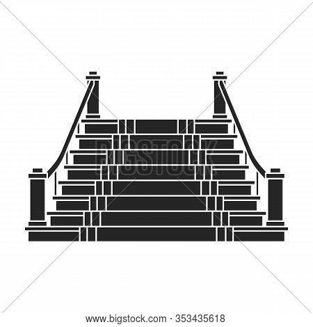 Staircase With Carpet Vector Icon.black Vector Icon Isolated On White Background Staircase With Carp