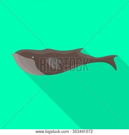Whale Sperm Vector Icon.flat Vector Icon Isolated On White Background Whale Sperm.