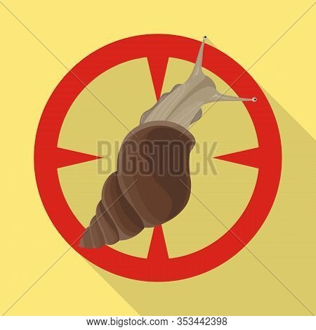 Snail Vector Icon.flat Vector Icon Isolated On White Background Snail.