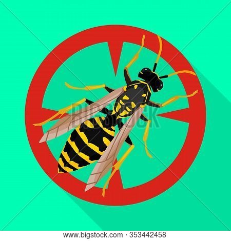 Insect Wasp Vector Icon.flat Vector Icon Isolated On White Background Insect Wasp .
