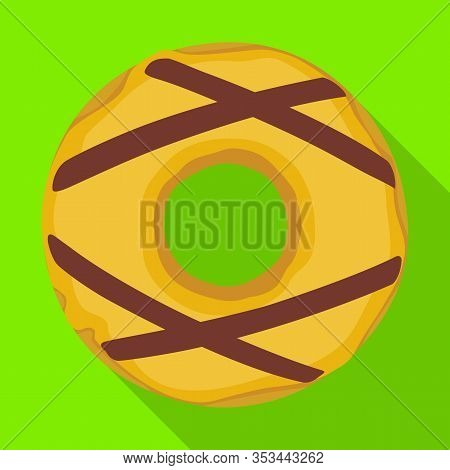 Caramel Doughnut Vector Icon.flat Vector Icon Isolated On White Background Caramel Doughnut.