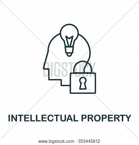 Intellectual Property Icon From Crowdfunding Collection. Simple Line Intellectual Property Icon For