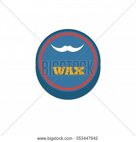 Beard Wax Icon. Flat Creative Element From Barber Shop Icons Collection. Colored Beard Wax Icon For
