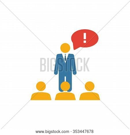Expert Opinion Icon. Flat Creative Element From Business Management Icons Collection. Colored Expert