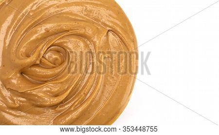 Swirly Peanut Butter Fudge Isolated on a White Background