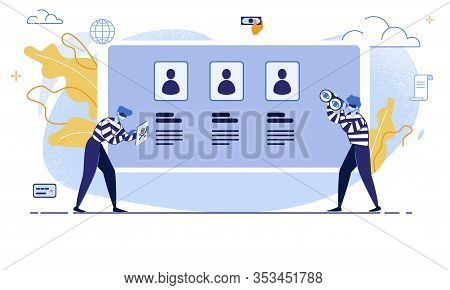 Internet User Personal Data Protection And Safety, Financial Fraudulent Online, Hacker Attack Trendy