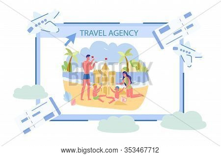 Travel Agency Flyer About Fun Time At Resort. Tour To Tropical Resort And Beach. Advertising To Attr