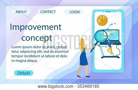 Banner Is Written Improvement Concept Cartoon. Help Employee To Deal With Work Issues To Improve Com