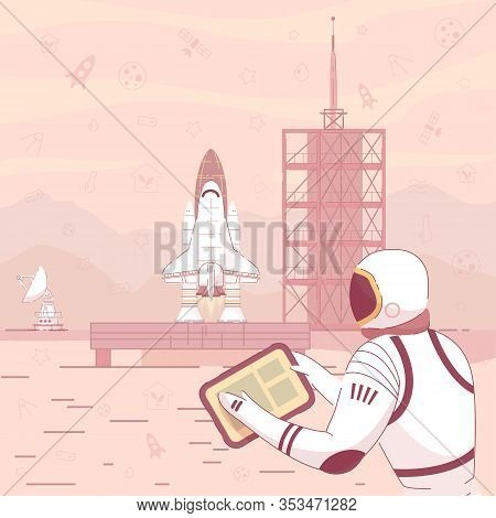 Prompt Flyer Control Successful Launch Spacecraft. Adaptation To Existing Living Conditions On Anoth
