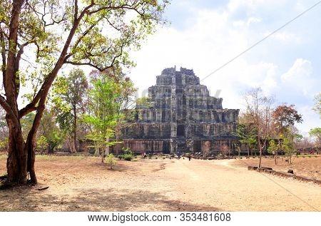 Seven-tier pyramid Prasat Thom, Koh Ker temple site, Cambodia