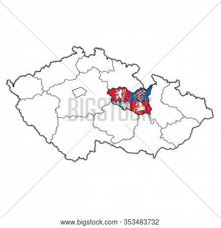 Pardubice Region On Administration Map Of Czech Republic