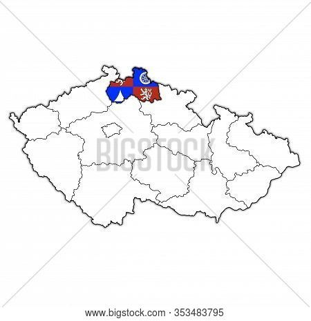 Liberec Region On Administration Map Of Czech Republic