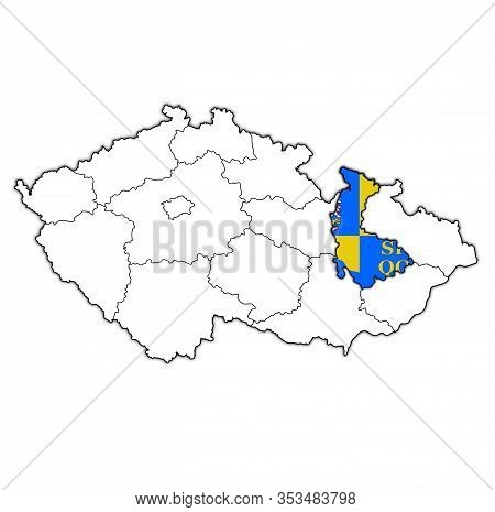 Olomouc Region On Administration Map Of Czech Republic