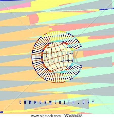 Commonwealth Day Vector Illustration With Colorful Background For Template Design