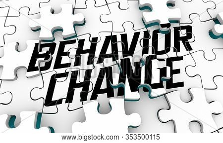 Behavior Change Influence New Outcome Puzzle 3d Illustration